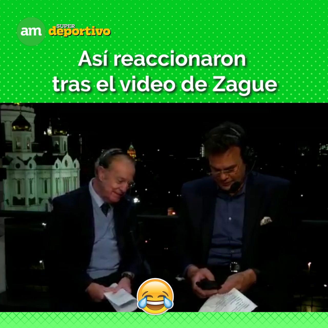 Video: Las reacciones José Ramón y Faitelson tras video de Zague