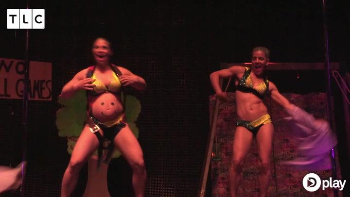 Gravid i 7. måned: Stiller op i stor poledance konkurrence