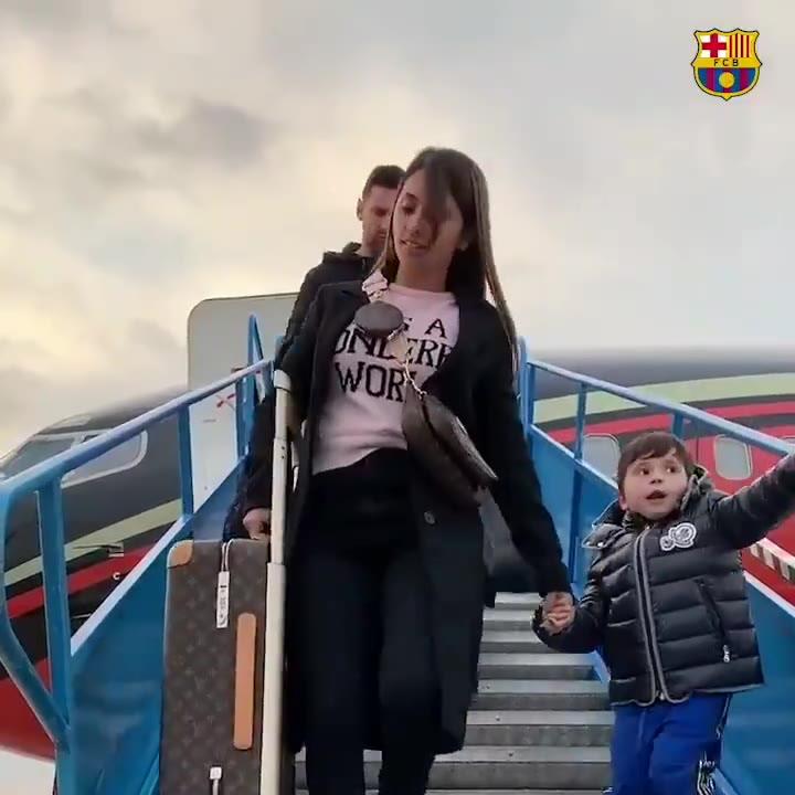 Messi, ya en París con sus dos hijos mayores para recibir el Balón de Oro