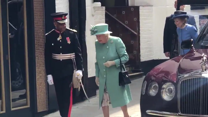 The Queen visits Sainsburys pop-up in Covent Garden