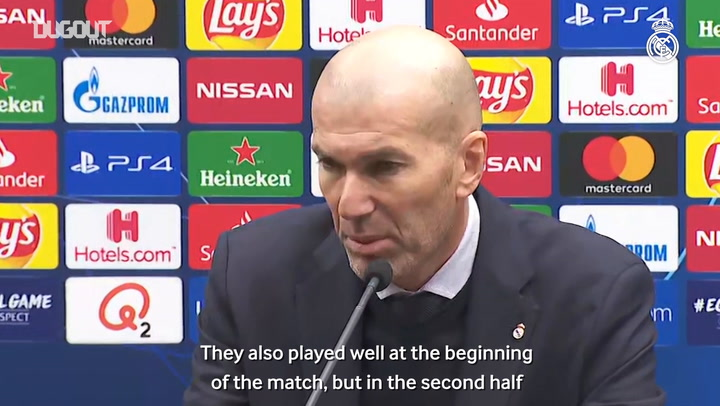 Zidane: 'It's a well-deserved victory'