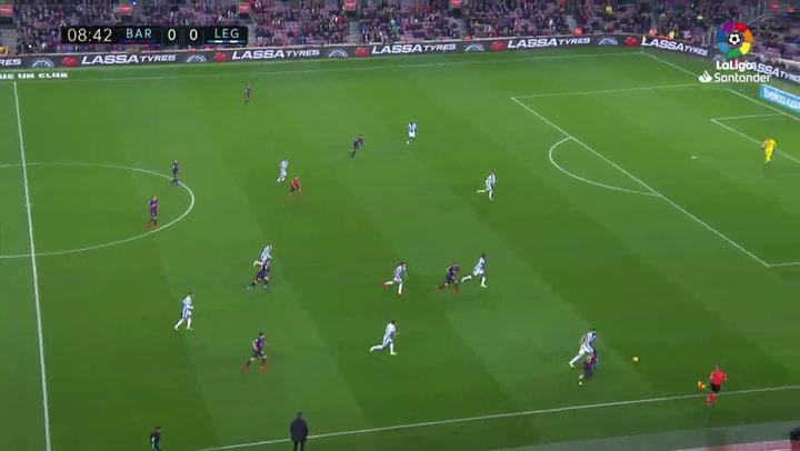 LaLiga: Barça - Leganés. El partido de Ousmane Dembélé (21/01/2019)