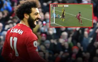 Salah marca un tremendo golazo en el triunfo del Liverpool sobre Watford