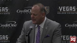 Golden Knights Head Coach Gerard Gallant Press Conference