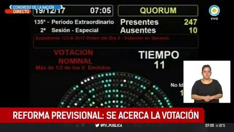 Diputados convirtió en ley la reforma previsional después de una jornada violenta