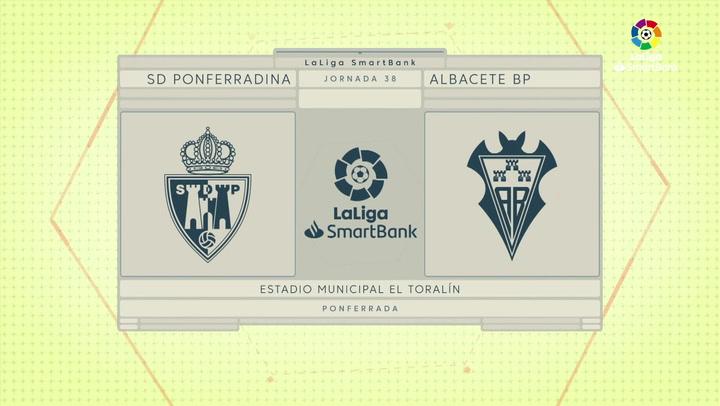 LaLiga SmartBank (J38): Resumen y gol del Ponferradina 0-1 Albacete