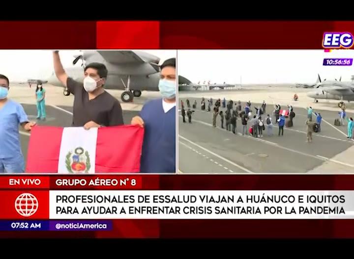 Profesionales de EsSalud viajaron a Iquitos y Huánuco para reforzar lucha contra el covid-19