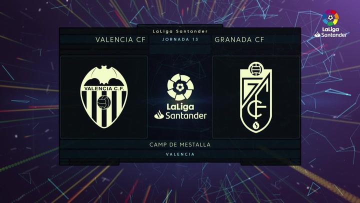 LaLiga (J13): Resumen y goles del Valencia 2-0 Granada