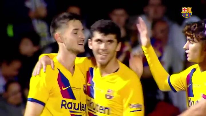 Gol de Alejandro Marqués (0-2) en el amistoso Cartagena - Barça