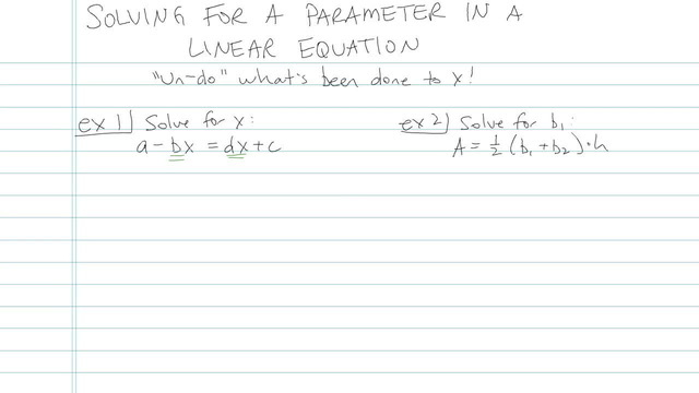 Solving for a Parameter in a Linear Equation - Problem 3