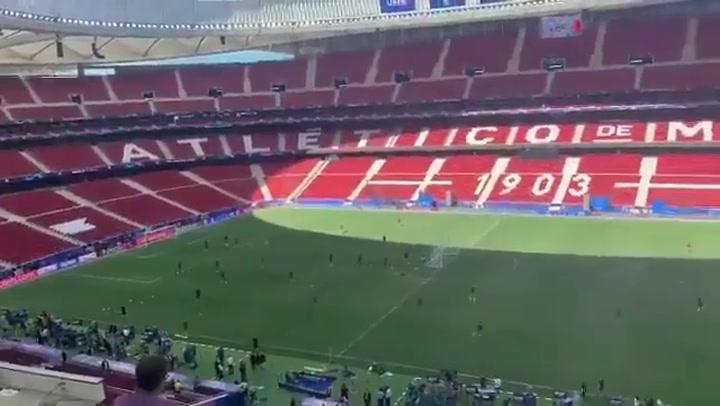 El Tottenham se ejercita en el Wanda Metropolitano