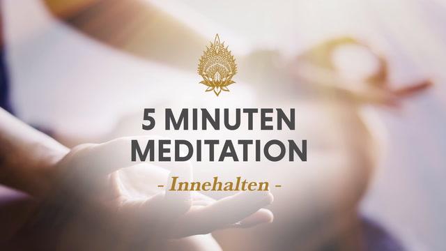 5 Minuten Meditation, Nr. 1