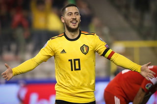 Con doblete de Eden Hazard, Bélgica supera a Rusia rumbo a la Eurocopa
