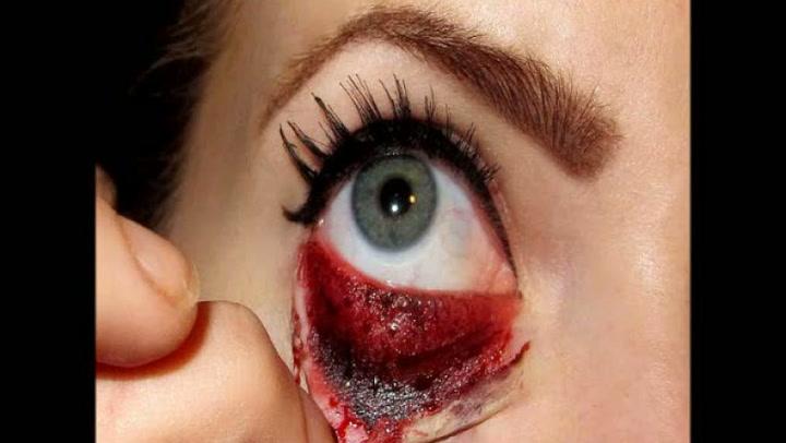 Halloween: Hvordan sminke blodig øye