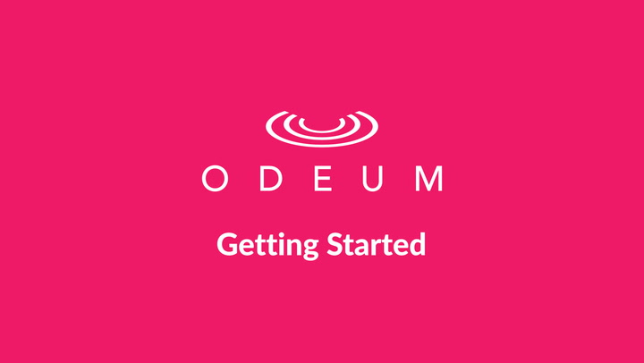 First Steps with Odeum
