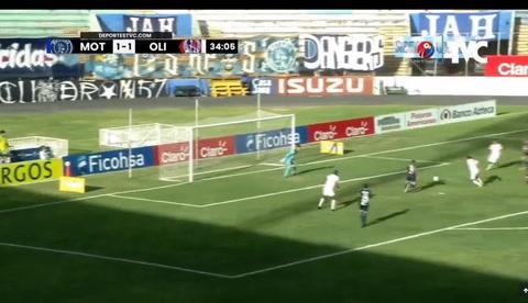 José Mario Pinto puso arriba en el marcador a los leones. Olimpia 2-1 Motagua