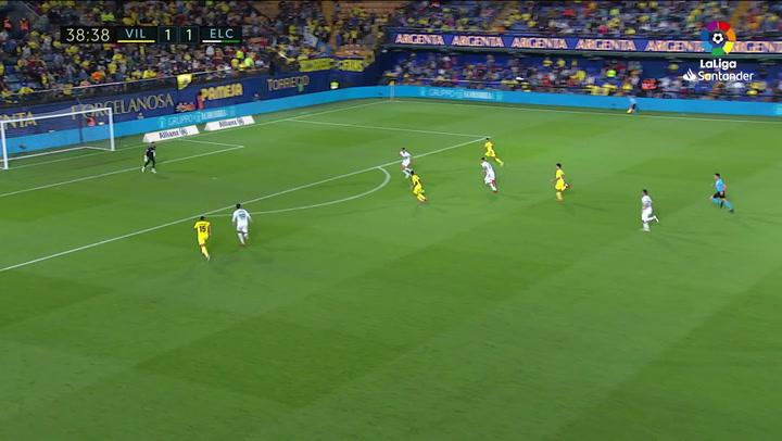 Gol de Trigueros (2-1) en el Villarreal 4-1 Elche