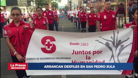 San Pedro Sula se viste de civismo