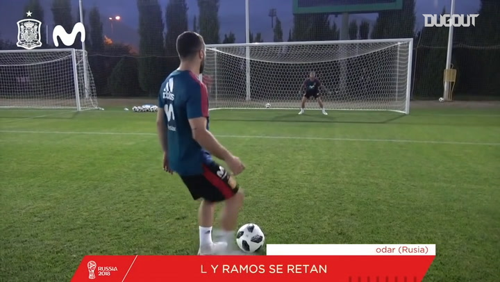 Sergio Ramos vs Dani Carvajal penalties challenge
