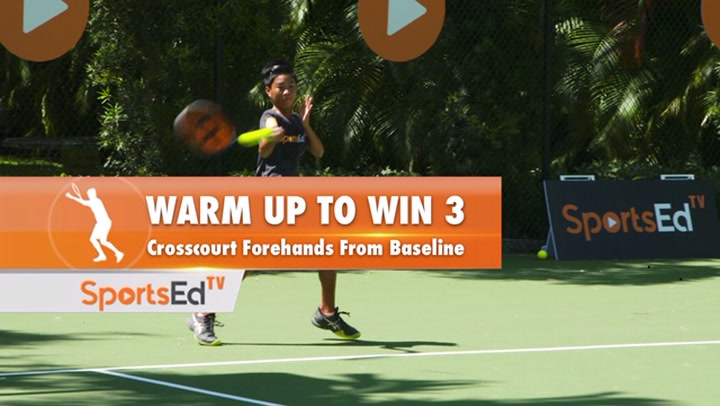 Warm Up to Win 3: Crosscourt Forehand From Baseline