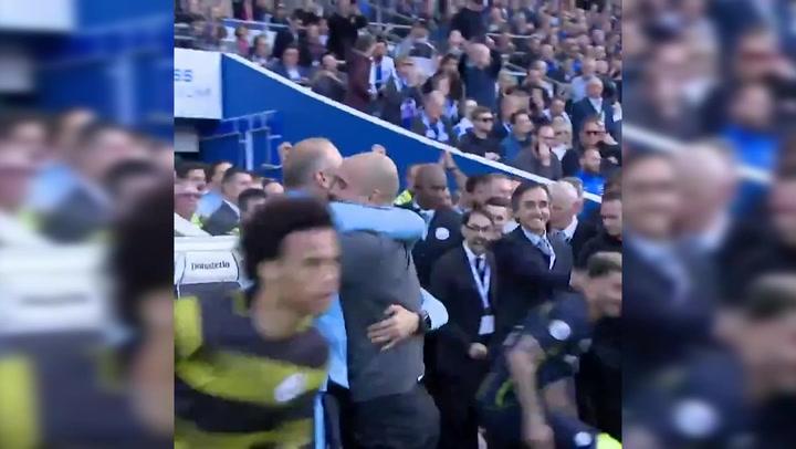 El Manchester City celebra su título de Premier League