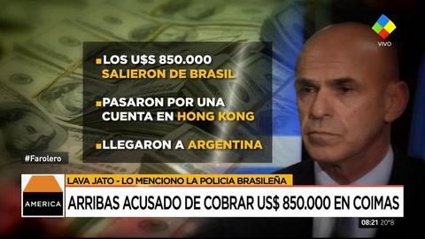 En Brasil acusan a Arribas de recibir dinero relacionado con el Lava Jato