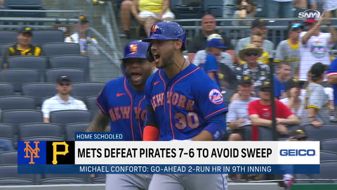 How big was Michael Conforto's home run and the Mets comeback win over the Pirates?