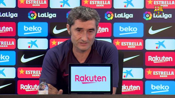 Rueda de prensa de Valverde previa al duelo contra Osasuna