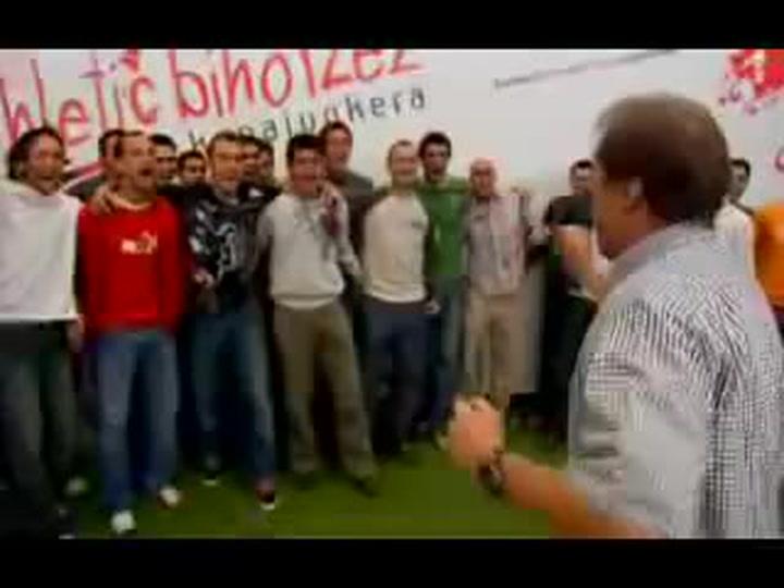 Manolo Delgado Meco grabó junto a Kepa Junkera el himno del Athletic