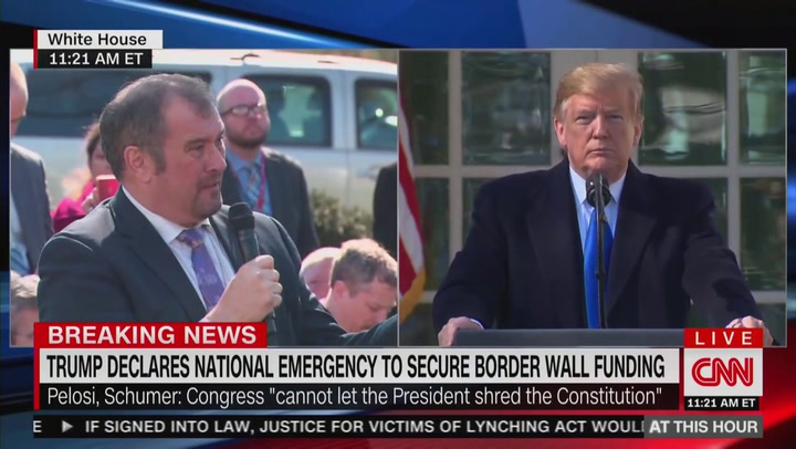 Image result for trump national emergency brian karem images