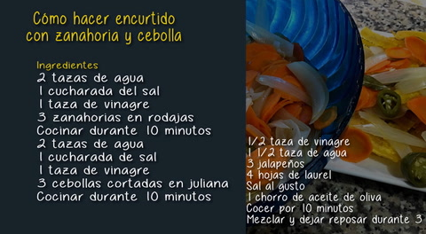Cómo hacer encurtido con zanahoria y cebolla