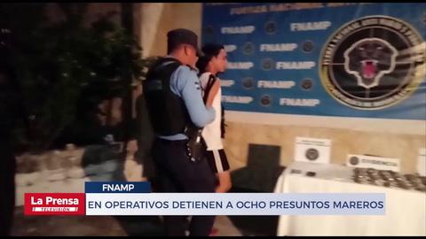 En operativos detienen a ocho presuntos mareros