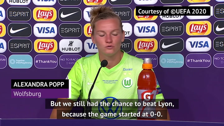 Mixed emotions for Wolfsburg after Champions League final defeat
