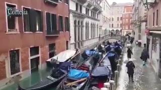 Venecia en alerta tras inundaciones de marea alta de hasta 2 metros