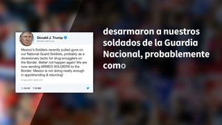 Trump dice estar enviando soldados armados a frontera con México