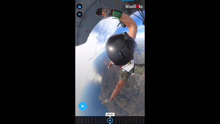 Skydiver hits head while jumping out of plane and dents the wing