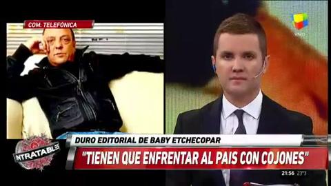 Baby Etchecopar: Me voy a ir a un país donde viva tranquilo