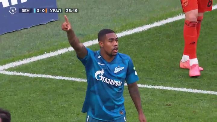 Goleada del Zenit de Malcom al Ural (7-1) en la liga rusa