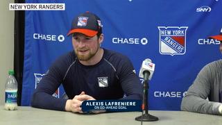 Rangers vs Predators: Alexis Lafrenière on go-ahead goal, Sammy Blais on playing with him