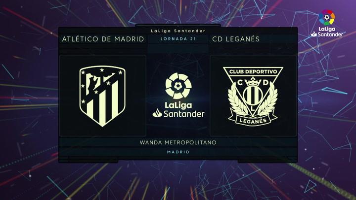LaLiga (J21): Resumen y goles del Atlético 0-0 Leganés