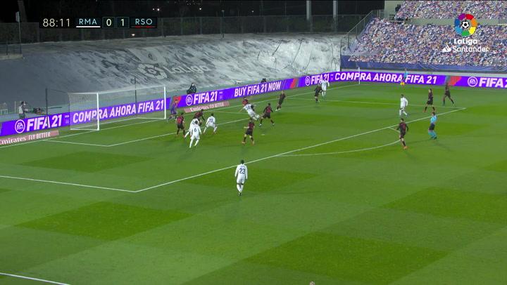 Gol de Vinicius Jr. (1-1) en el Real Madrid 1-1 Real Sociedad