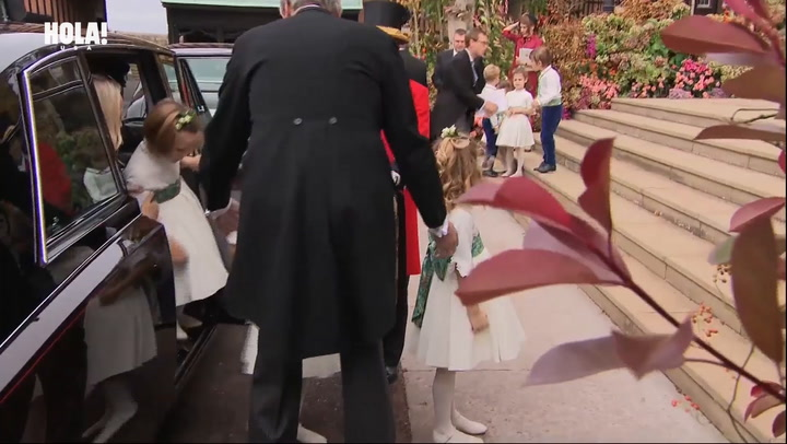 Prince George and Princess Charlotte at Princess Eugenie\'s royal wedding