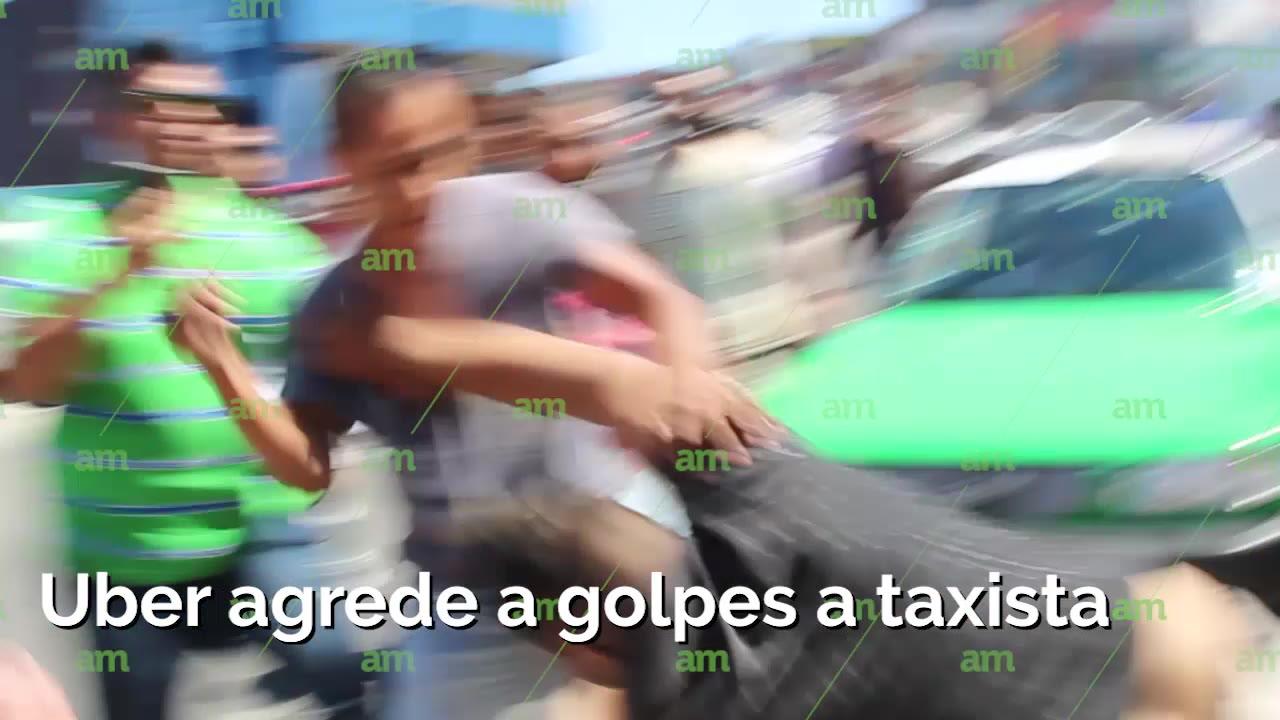 Uber y taxistas se pelean a golpes