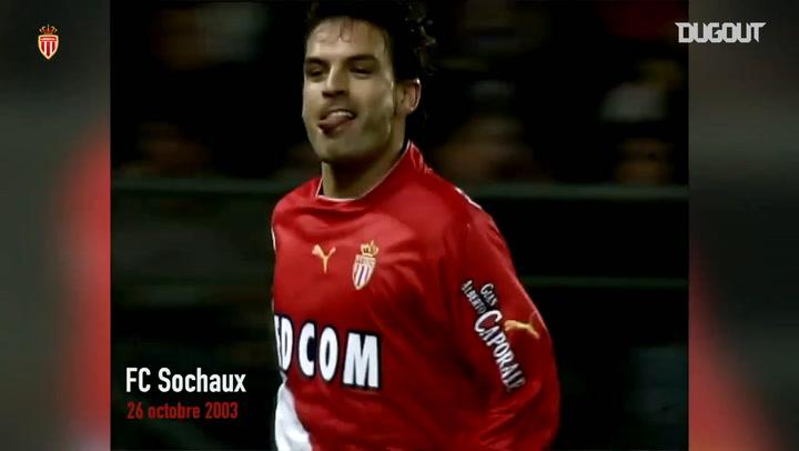 Morientes' first goal at Monaco