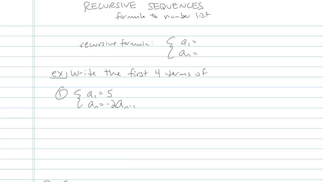 Recursion Sequences - Problem 2