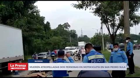 Mueren atropelladas dos personas en motocicleta en San Pedro Sula
