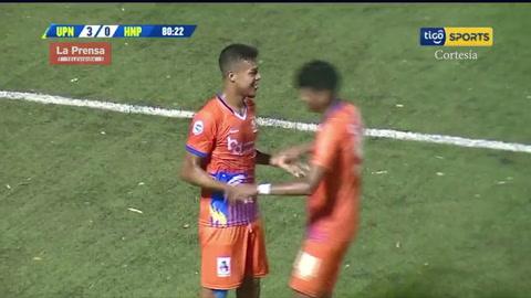 Kilmar Peña anota el 3-0 de la UPN ante Honduras Progreso