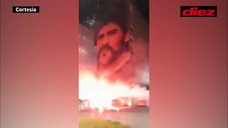 ¡Tremendo tributo hasta el cielo! Nápoles le rinde homenaje a Diego Maradona tras su muerte
