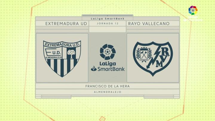 LaLiga SmartBank (J12): Resumen y goles del Extremadura 0-3 Rayo Vallecano