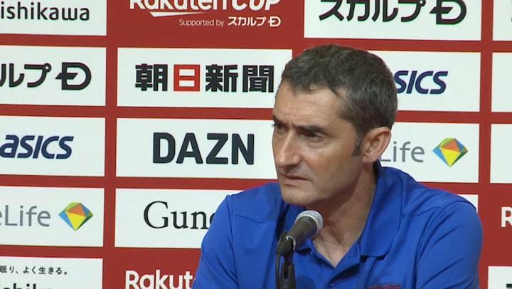 Valverde valoró el papel de Griezmann en su debut ante el Chelsea en la Rakuten Cup